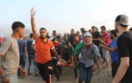 شهيد وإصابات بالجمعة الـ77 لمسيرات العودة بغزة