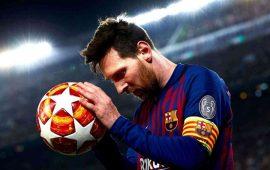 """ميسي يسجل الـ""""هاتريك"""" ويقود برشلونة لفوز ثمين"""
