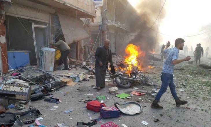 Photo of 15 قتيلا و30 جريحا بانفجار سيارة مفخخة في تل أبيض السورية