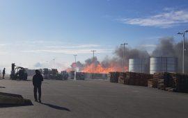 حرائق في عكا ورهط وانفجار بنهريا