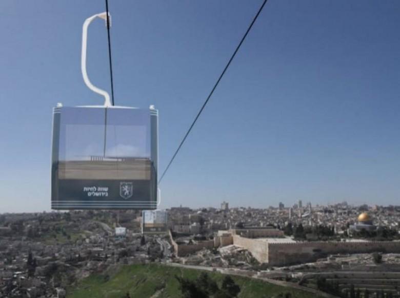 """الاحتلال يصادق على """"القطار الهوائي"""" في القدس"""