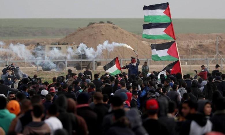 إصابات بقمع الاحتلال لمسيرات العودة شرق غزة