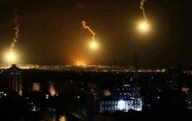 قصف إسرائيلي وقنابل إضاءة شمال قطاع غزة