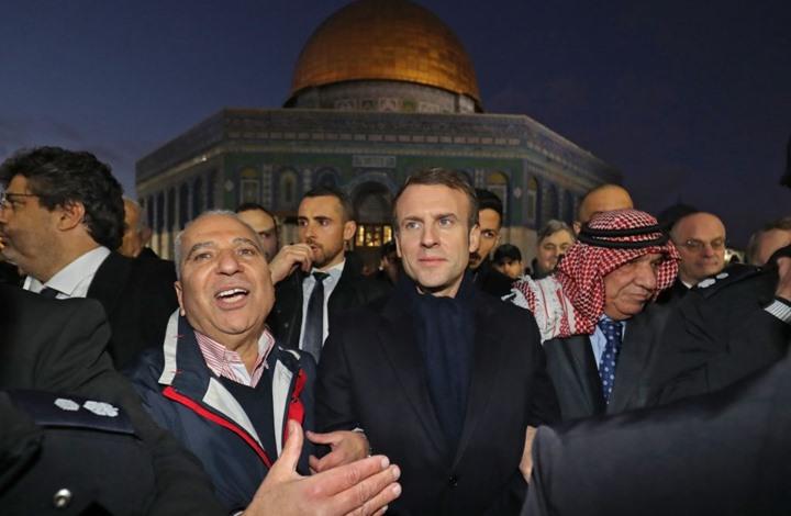 مشادة بين ماكرون وشرطة الاحتلال في القدس