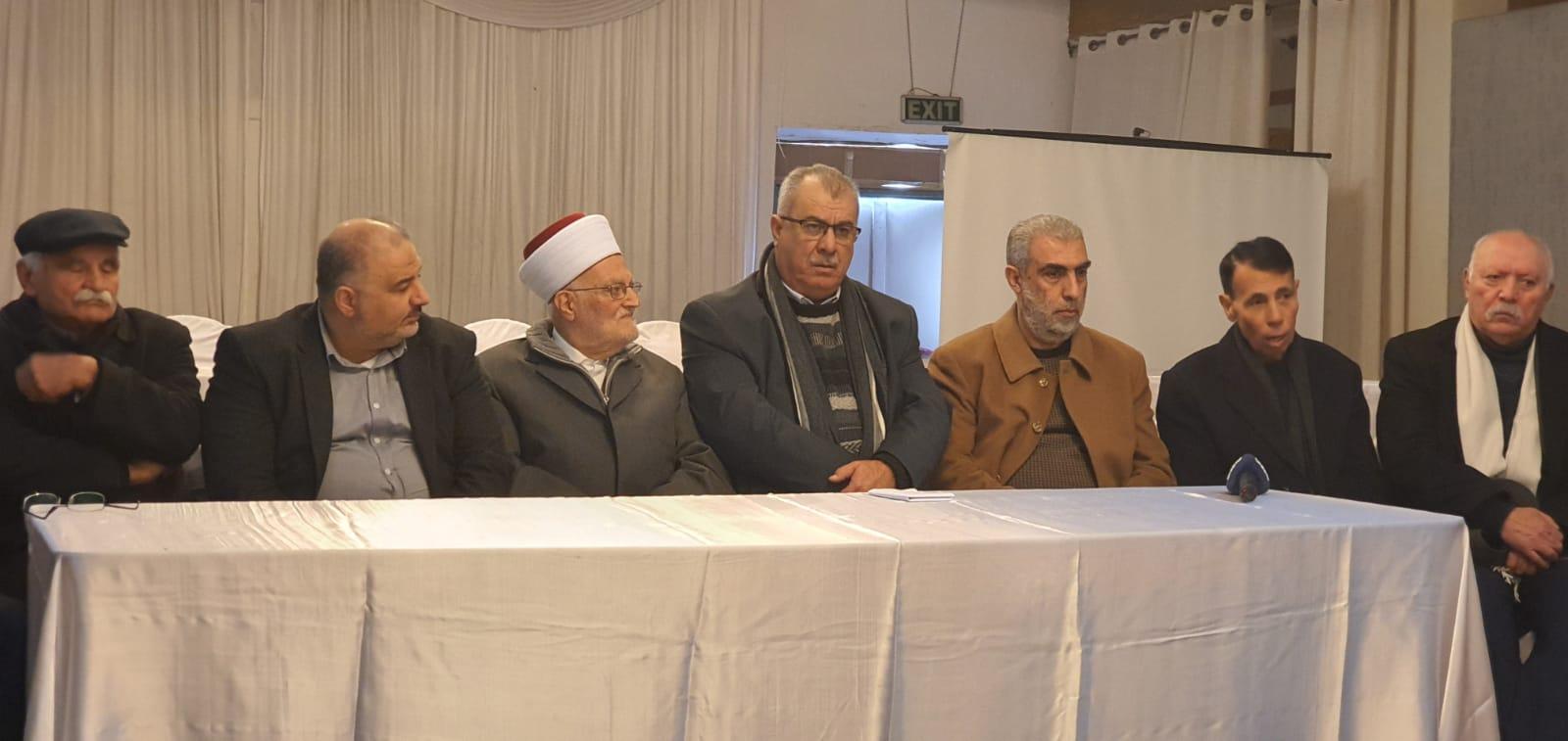 Photo of وفد من المتابعة يتضامن مع الشيخ عكرمة صبري