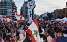 """لبنان.. إحراق """"مجسم الثورة"""" في النبطية معقل """"حزب الله"""""""