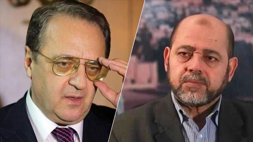 """""""حماس"""" تبحث مع بوغدانوف تطورات القضية الفلسطينية"""