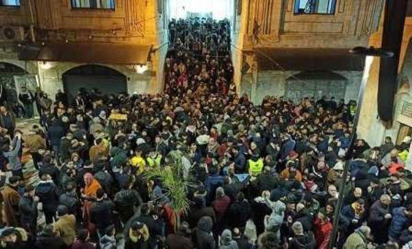 """الآلاف يلبون دعوات """"الفجر العظيم"""" بنابلس"""