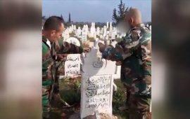 قوات النظام السوري تهدم مقابر المدنيين في خان السبل بإدلب