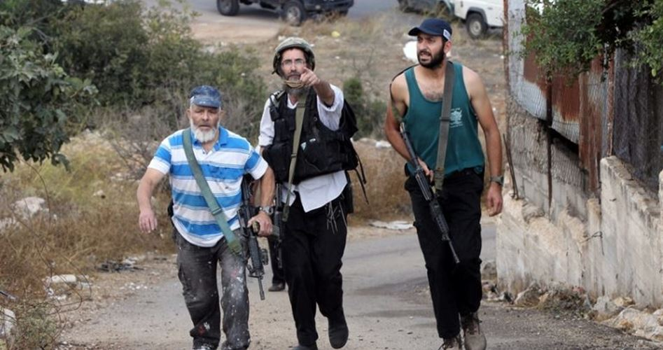 Photo of مستوطنون يقطعون أشجار كرمة جنوب بيت لحم