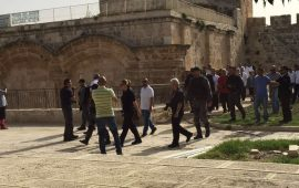 عشرات المستوطنين يقتحمون باحات الأقصى صباح اليوم