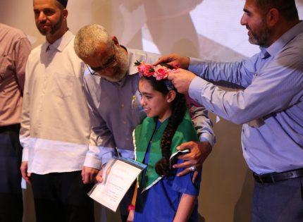 جمعية بصائر الخير تخرّج نور محمود جبارين أصغر حافظة للقرآن الكريم على مستوى أم الفحم