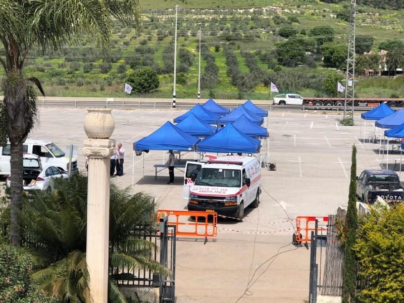 افتتاح أول محطة لفحص الكورونا في وادي عارة
