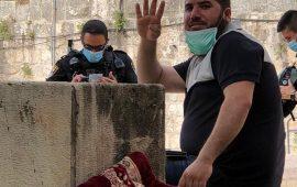 شعب: اعتقال أيمن أبو ضعوف وتغريمه بسبب  التكبير أثناء الصلاة قرب مقبرة باب الرحمة