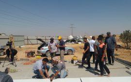 """معسكر عمل تطوعي في النقب: إعادة بناء منزلين في قرية """"بئر الحمام"""" هدمتهما السلطات الإسرائيلية"""