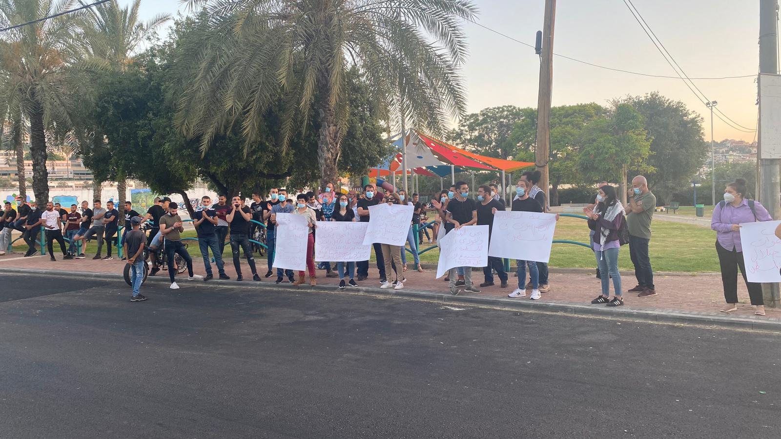 Photo of وادي عارة: وقفة احتجاجية ضد مخططات التصفية للقضية الفلسطينية