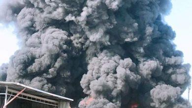 Photo of حريق هائل في مصنع بعكا