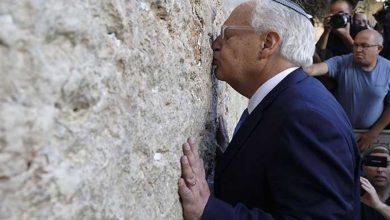 Photo of السفير الأمريكي لدى المؤسسة الإسرائيلية: فرض السيادة في الضفة تأجّل ولم يُلغَ