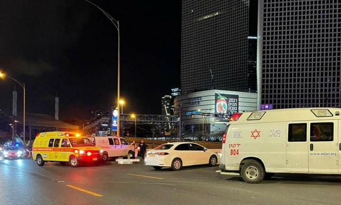 مكان الحادث في تل أبيب (تصوير الإسعاف)