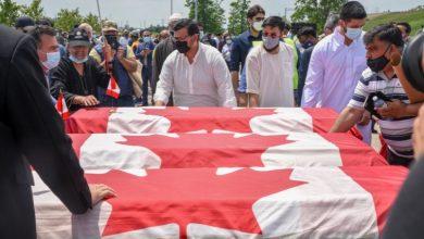 Photo of القاتل يمثل أمام المحكمة الاثنين.. تشييع الأسرة الكندية المسلمة في جو مهيب