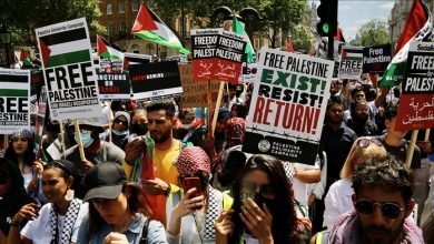Photo of بريطانيا.. مظاهرة تطالب قادة مجموعة السبع بوقف دعم إسرائيل