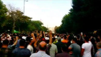 "Photo of إيران.. مظاهرة في تبريز دعما لاحتجاجات ""خوزستان"""